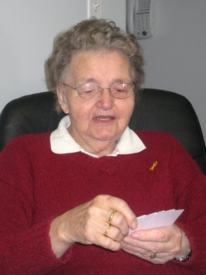 Grammie and cards