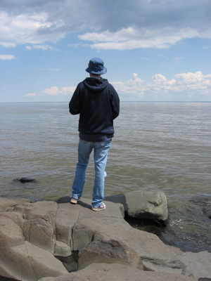 David by Lake Superior
